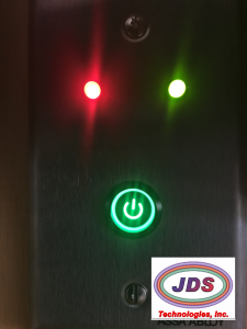 remote wall plate logo bottom right lit leds